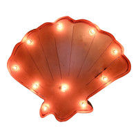 Seashell Symbol Marquee Sign Light