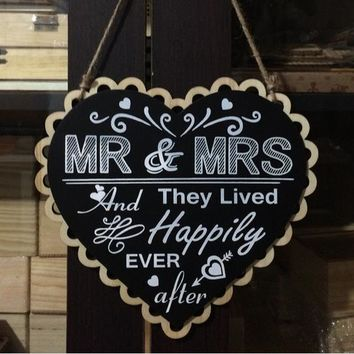 Sweet Heart Shape Blackboard Wedding Signs - rustic wedding decor