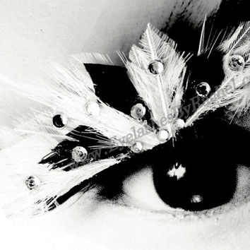 Black & White Color spLashes Feather False Eyelashes