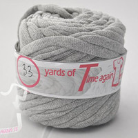 Heather Gray t-shirt yarn 33 yards upcycle recycle craft crochet knitting supply