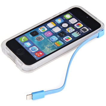 Plastic and TPU Material High Speed USB Charger Cable Back Case with 8 Pin and USB 2.0 Interface for iPhone 5 5S 5C = 1841583620