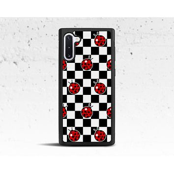 Ladybug Checkered Phone Case for Samsung Galaxy S & Note