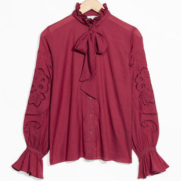Tie Detail Blouse - Red - Blouses - & Other Stories US