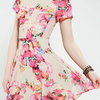 Coincidence & Chance Floral Mesh-Back Dress