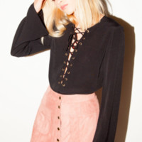 Winona Lace Up Top (more colors)