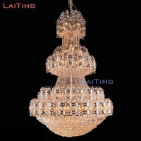 2016 New Church Project Light Large Villa Gold Empire Luxury Crystal Chandelier Ceiling Lamp