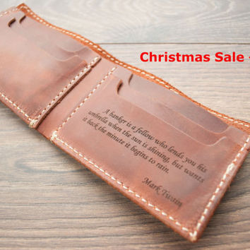 Christmas Sale -15%, Leather Wallet, PERSONALIZED Men's Leather Wallet, Mens  wallet, bifold wallet, Slim Wallet, man wallet, Traditional