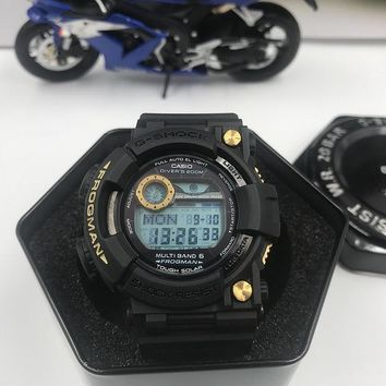 DCCK C018 Casio G Shock GWF-1000 Plastic Straap Frogmman Resist Fashion Electronic Watches Black Gold