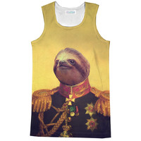Lil' General Sloth Racerback Tank Top