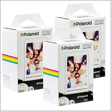 Polaroid PIF300 Instant Film Replacement - Designed for use with Fujifilm Instax Mini and PIC 300 Cameras (60 Sheets)