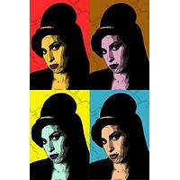 Multiple Image Celebrity Singer Amy Winehouse POP ART CULTURE POSTER 24X36