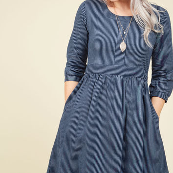 Team-Building Breakfast A-Line Dress | Mod Retro Vintage Dresses | ModCloth.com