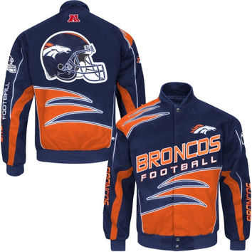 Denver Broncos Shred Cotton Twill Jacket – Navy Blue