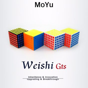2016 Brand New Moyu Weishi GTS 6-Layers 68mm MagicCube 6x6x6 Speedcube Puzzle Magic Cube Smooth Toy for Children Gifts Original