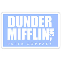 'The Office Dunder Mifflin Paper Company' Sticker by decentart