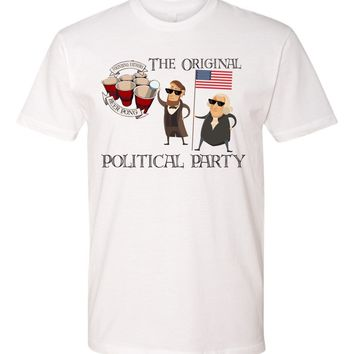 funny president beer pong 4th july Tshirt - drink up tee- patriotic tshirt - summer shirt - original political party