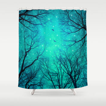 A Certain Darkness Is Needed II (Night Trees Silhouette) Shower Curtain by soaring anchor designs ⚓ | Society6
