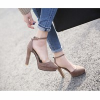 Presley Platform Ankle Strap Pumps  2 Colors