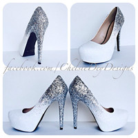 Ombre Dream Glitter High Heels
