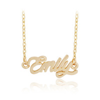 Name Emily Pendant Golden Chain Necklace