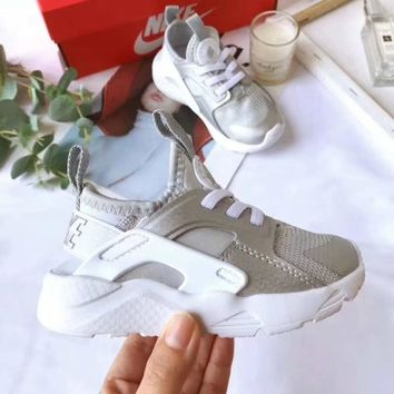 Nike Air Huarache Child Shoes White Silver Toddler Kids Shoes - Best Deal Online