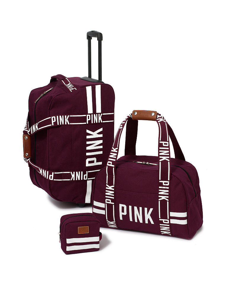 3 piece travel set pink victoria 39 s from vs pink. Black Bedroom Furniture Sets. Home Design Ideas