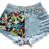 The Marvel High-Waisted Shorts from ShopWunderlust