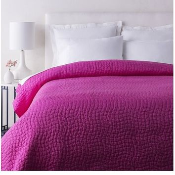 Alba Solid Hot Pink Quilt
