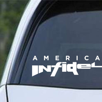 American Infidel AR15 Pro Gun Rights Patriot Die Cut Vinyl Decal Sticker