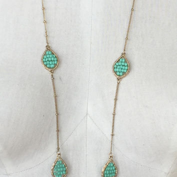 Big Drips Necklace: Mint