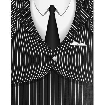 Pinstripe Gangster Jacket Printed Costume Aluminum Magnet All Over Print