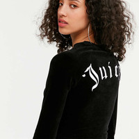 Juicy Couture For UO Long Sleeve Cropped Velour Top - Urban Outfitters
