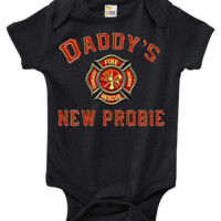 Baby Bodysuit - Daddy's New Probie Firefighter