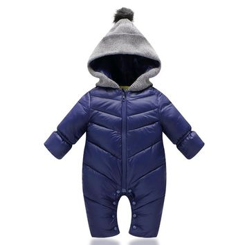 Cotton Baby Rompers Winter Baby Girl Clothes Down Parkas Baby Boy Clothing Set Newborn Baby Clothes Roupas Bebe Infant Jumpsuits