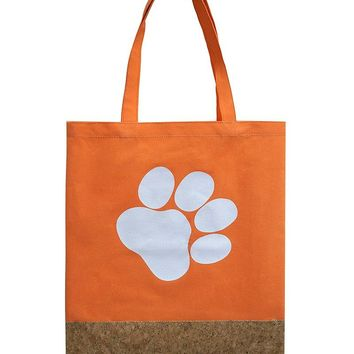 Two Material Paw Print Tote Bag Accessory 64