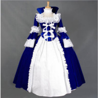 Medieval Renaissance Gothic Lolita Full long dress cosplay Victorian Costume YH