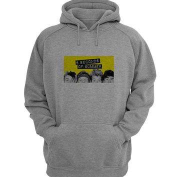5 second of summer Hoodie Sweatshirt Sweater Shirt Gray for Unisex size with variant colour