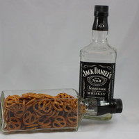 Serving Dish Bowl Upcycled from Jack Daniel's Bottle