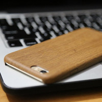 Luxury Wood Grain Style tup material back cover case for iphone 4 4s 5 5s 6 s 6s  plus i phone4 phone5 phone6 6plus coque