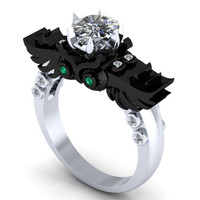 Gothic Owl Engagement Ring