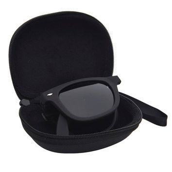New 1pcs Vintage Women Steampunk Oversize Folding Sunglasses Luxury Brand Designer Men Sunglasses Large Mirror Lens With Case