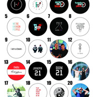 "Twenty One Pilots Pins 1.25"" (Pick 6)"