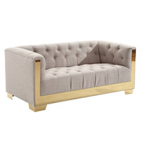 Armen Living Zinc Contemporary Loveseat