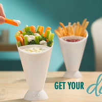 French Fry Dipping Cone: Dip and devour finger foods.