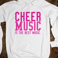 Cheer Music Is The Best Music-Unisex White Hoodie