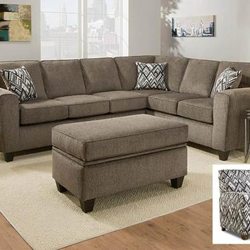 3100 Cornell Pewter RSF Sofa