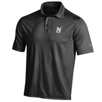 Navy Midshipmen Under Armour Event Performance Polo – Black