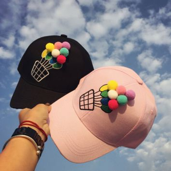 3D Balloon Embroidered Baseball embroidered cap Hat