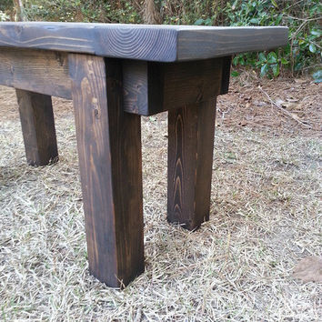 Rustic French Country Wood Bench