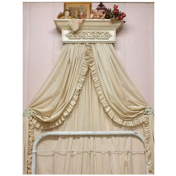 Curtains, Drapes, Window Treatments, Ruffled Curtains, Shabby Chic, Bedroom decor, Nursery decor